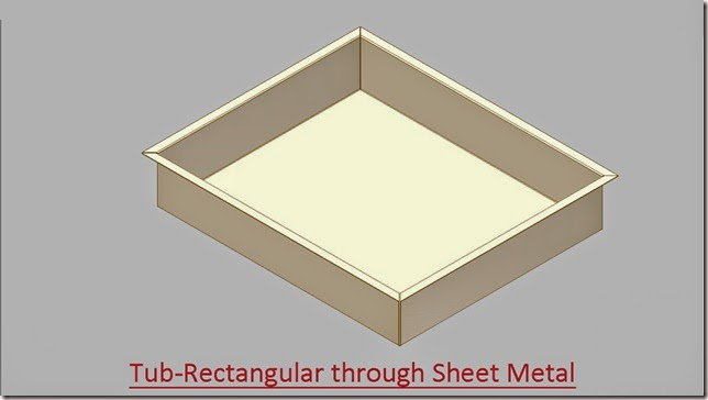 Tub-Rectangular through Sheet Metal