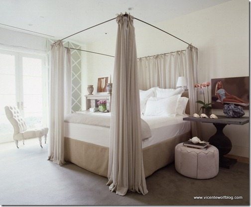 vicente wolf bedroom w canopy bed