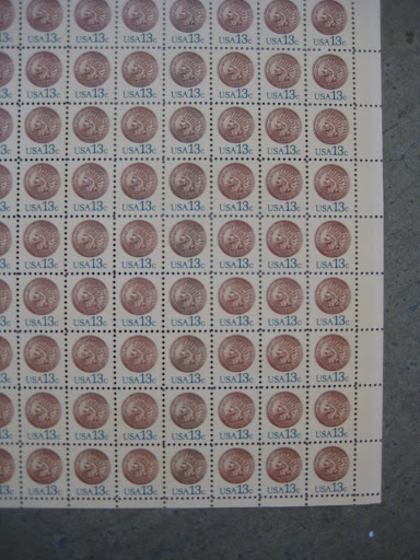 loving the penny stamps.