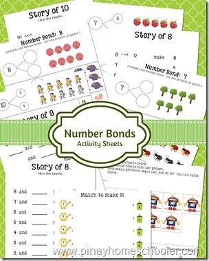 Number Bonds Activity Sheets
