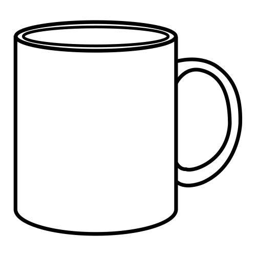 CUP COLORING PAGES