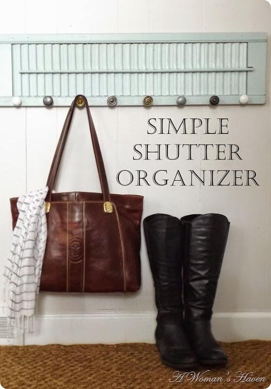 simple shutter organizer