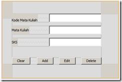 form CRUD sederhana dengan java