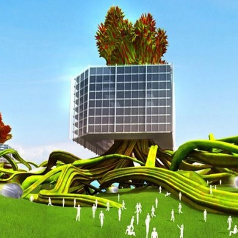 Ciudad futurista MEtreePOLIS proyecto de aprovechamiento de la energía limpia del sol