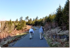 Bill, Tricia and Dan on way to Observation Tower at Clingmans Dome