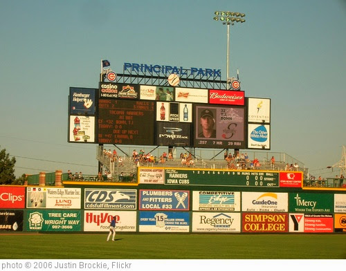 'Iowa Cubs AAA Baseball, Des Moines, Iowa' photo (c) 2006, Justin Brockie - license: https://creativecommons.org/licenses/by/2.0/