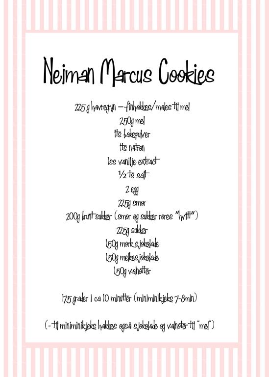 neiman marcus cookies nusselige cookies oppskrift kjeks