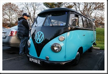 VW Bus at Coffee and Cars