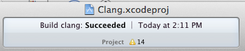 Clang build Succeeded
