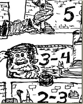 OD&D Wandering Monster Poster detail