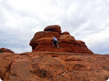 paul climbing rock
