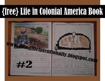 FREE Life in Colonial America Printable Book for Homeschool Social STudies