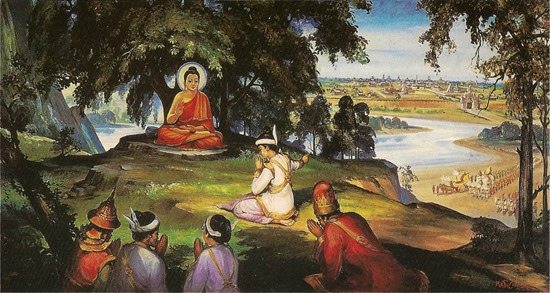 Đức Phật thuyết Pháp cho vua Bimbisara