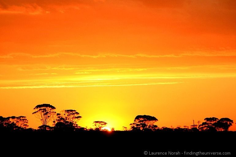 Sunset outback australia