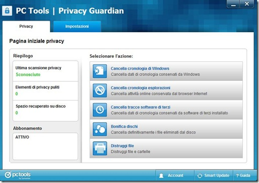 PC Tools Privacy Guardian