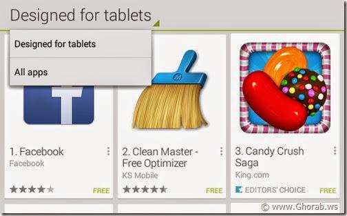 Designed for tablets