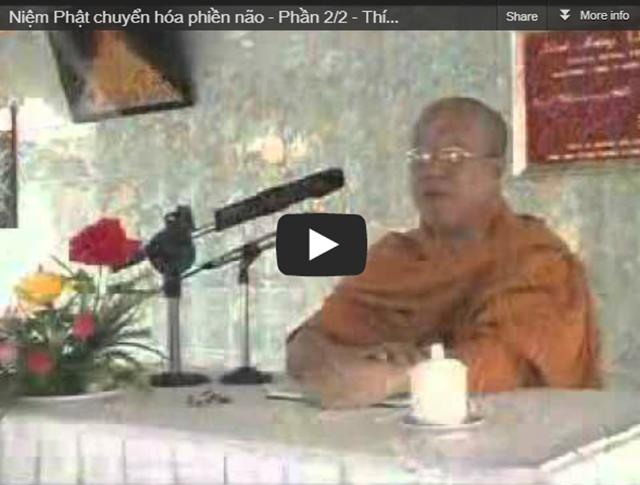 Niệm Phật chuyển hóa phiền não - Thích Giác Tây