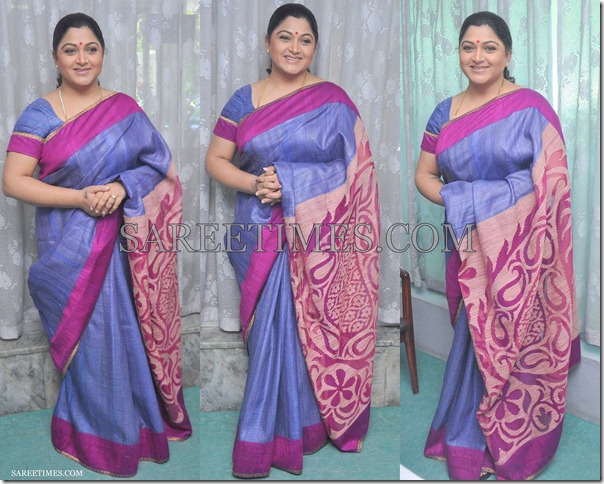 Kushboo_Blue_Designer_Saree