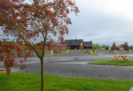 morning rain at Silver Spur RV Park in Silverton