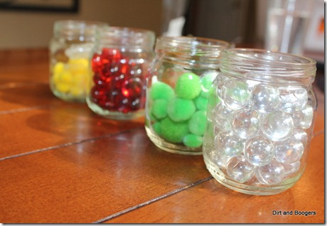 Jars, Marbles, and Pom Poms
