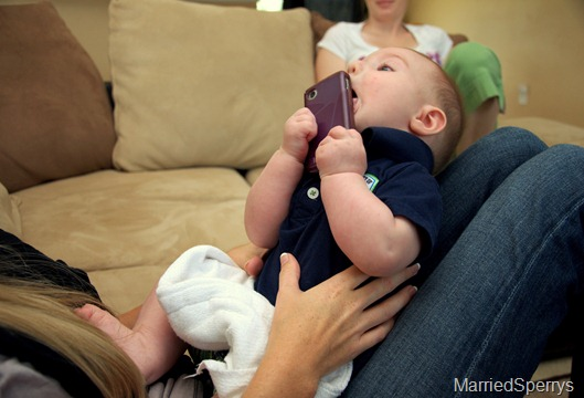 Gabe Eating Phone
