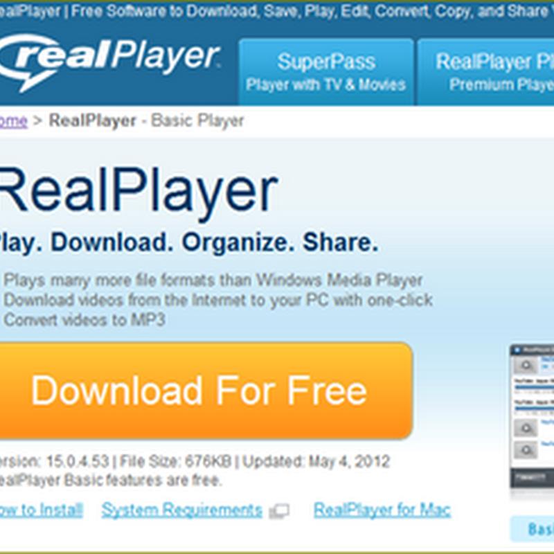 การดึงไฟล์วีดีโอออกจากตัวเล่น Jw player บนเวบด้วย Realplayer