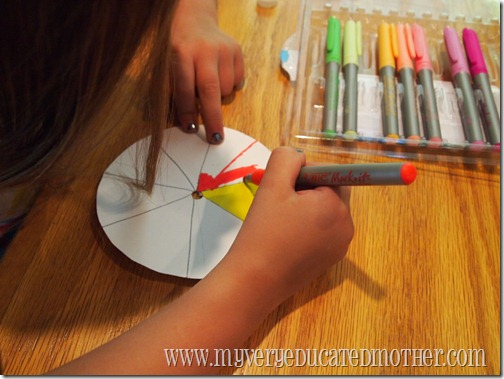 www.myveryeducatedmother.com Coloring our Color Wheels