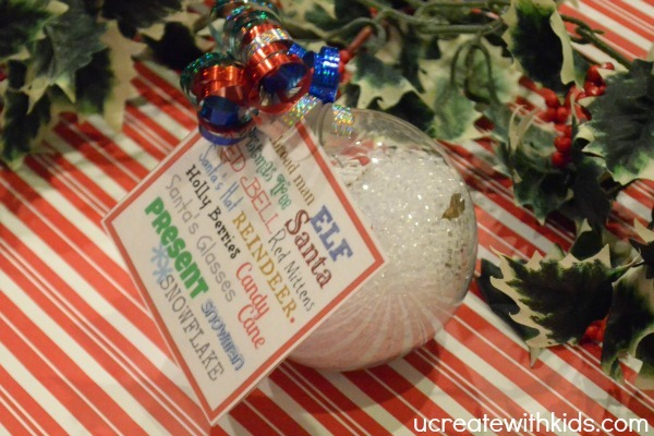 I Spy Christmas Ornament tutorial 9
