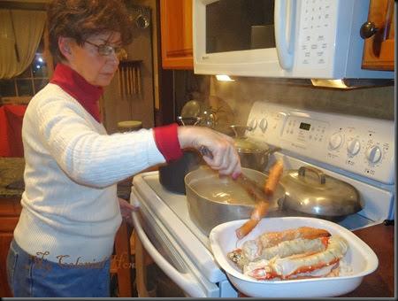 fixing crab