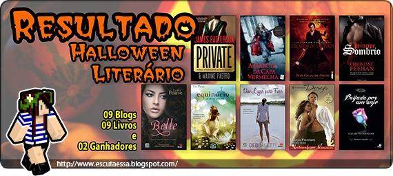 Banner sorteio - Halloween literário