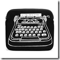 Lulu Guinness Black Typewriter iPad Case
