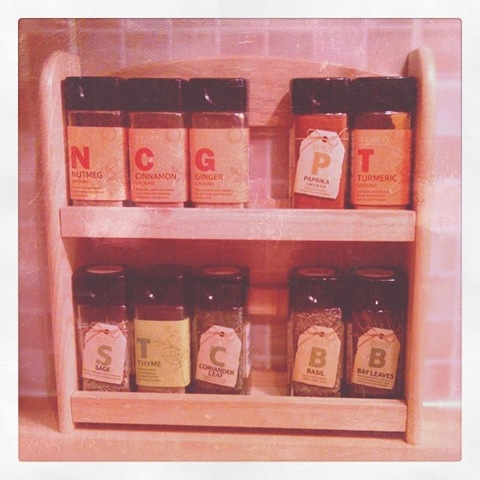 #12 - New spice rack