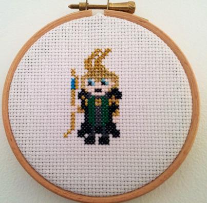 Loki Cross Stitch