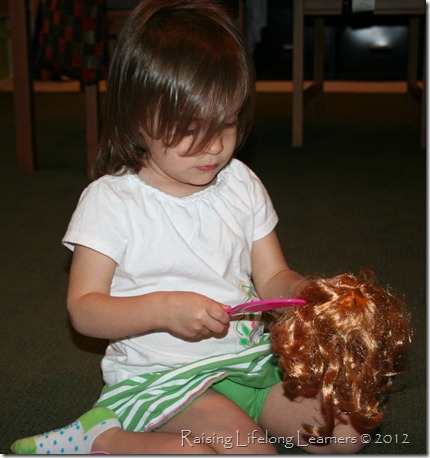 Combing Snap Doll's Hair