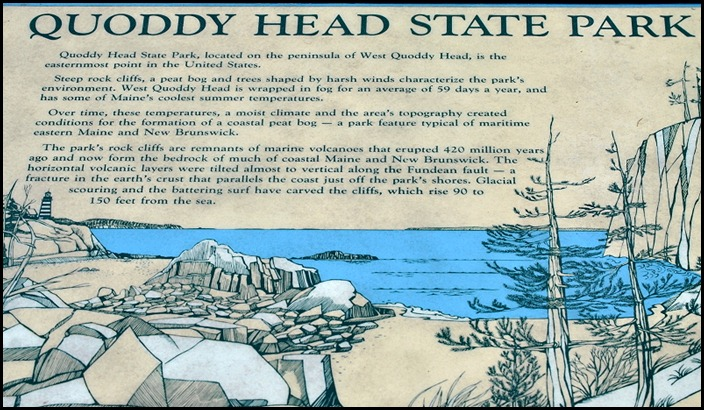 00b - Quoddy Head State Park Sign