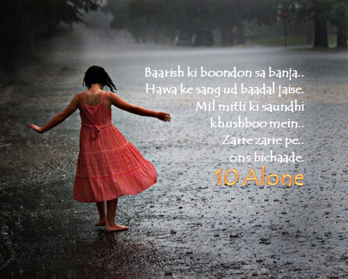10 Alone Lyrics by Vikrmn Baarish ki boondon sa banja Drops of rain CA Vikram Verma