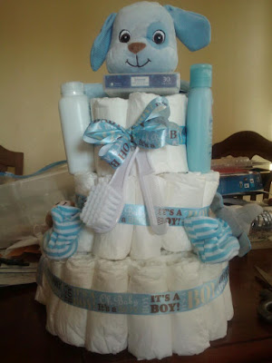 boy diaper cake in blue | Cordier Events Antrelle Blogs