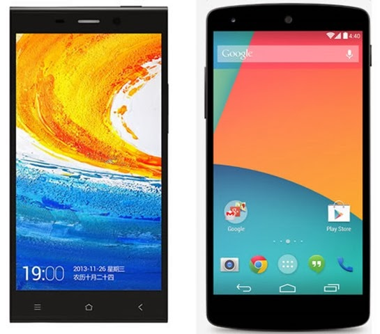 Gionee-Elife-E7-vs-Google-Nexus-5 India