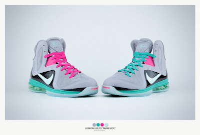 nike lebron 9 ps elite grey candy pink 9 09 sneakerbox Nike LeBron 9 Elite Miami Vice Ultimate Gallery by Sneakerbox