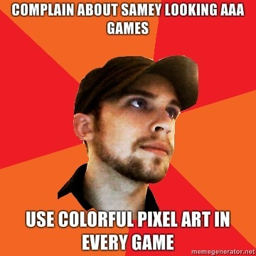COMPLAIN-about-samey-looking-aaa-games-use-colorful-pixel-art-in-every-game