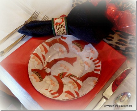 a walk in the countryside: mod podge santa plates