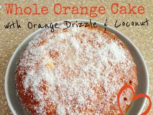 Whole Orange Cake with Orange Drizzle and Coconut {Recipe}