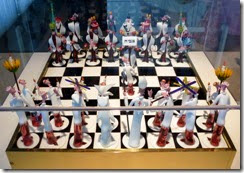 Chess set at Corning MoG