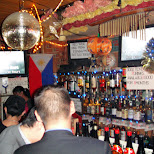 at the philipino karaoke bar in Roppongi, Tokyo, Japan