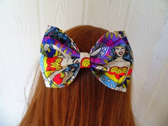 Wonder Woman Hair Bow from Leah Ashley Designs
