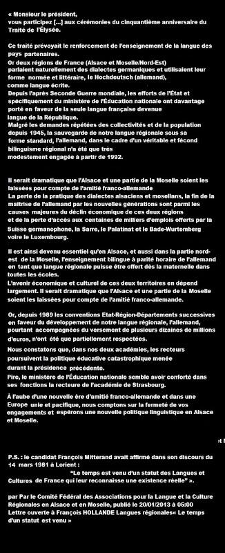 Letra a François Hollande