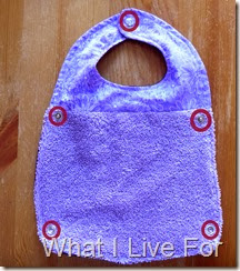 Fold & Snap Bib: Apply snaps