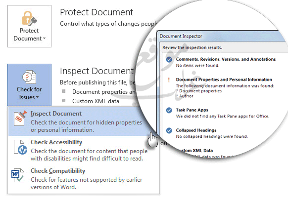 Word Inspect Document