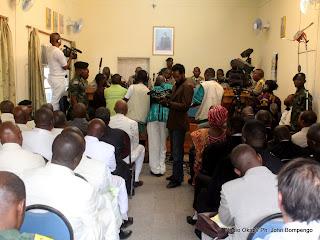 – Vue de l'une des salles d'audience de la haute cour militaire ce 22/07/2011 à Kinshasa, durant l'arrêt du procès de révision de Simon Kimbangu. Radio Okapi/ Ph. John Bompengo