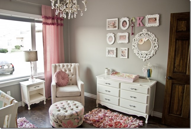 project nursery pink gray